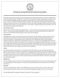 New Graduate Resume Template Lpn Nurse Sample Cna Examples College