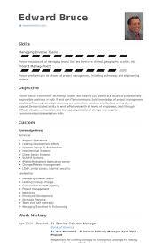 Service Delivery Manager Resume Samples Visualcv Resume Samples