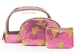 victoria s secret sparkly heart makeup bags musings of a muse