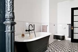 bathroom tiles black and white.  Black View In Gallery Black And White Bathroom With Cement Tile Flooring Design  FJ Interior Design On Bathroom Tiles And White