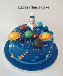 Space Birthday Cake Designs Eggless Space Cake Cake Desserts Birthday Cake