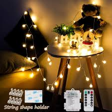 Decorative String Lights Amazon Premer Globe String Lights Battery Powered 16ft 50 Led Decorative Fairy Light For Outdoor Indoor Ambient Lighting Led Starry Light Dimmable Remote