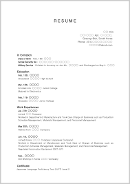 Sample Resume High School Graduate Sample Resume Format For High School Graduate With No Experience 18