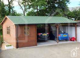 wooden double carport with a shed storage 6m wide by 7 5m deep