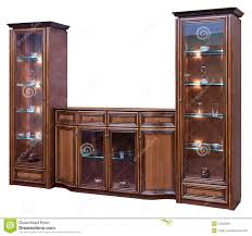 wood cabinet with glass doors wooden cupboard stock image 24320381