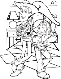 Coloriage Buzz L Clair Et Woody Imprimer Sur Coloriages Info