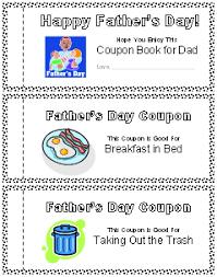 Printable Homemade Coupons Printable Fathers Day Coupon Book All Kids Network