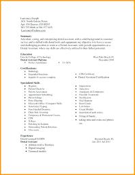 Dental Assistant Resume Template Student Entry Level Dental