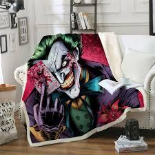 Beddingoutlet Joker Poker Printed Velvet Plüsch Decke Tagesdecke Für Kinder Mädchen Sherpa Decke Reise Couch Bettbezug