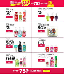 Bath & Body Works Christmas Clearance 2015: Save Up To 75% Off ...
