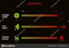Illustration Of Depth Of Field Chart Stock Vector