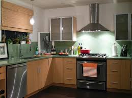 pretty green color kitchen recycled countertops come with l shape green countertops and undermount kitchen sink plus built in stoves oven together with