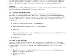 Types Of Resumes New Types Of Resume Format Sample Type Resumes How To A Three Different