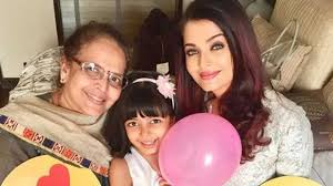 aishwarya rai bachchan daughter aaradhya and mother brinda are celebrating mother s day with balloons