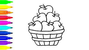 Coloring Pages Apple Fruit Colouring Pages For Preschoolers Free