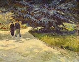 couple in the park arles painting vincent van gogh couple in the park