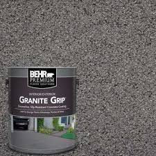 gray granite grip decorative flat interior exterior concrete floor coating