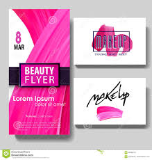 make up artist business card template stock ilration image makeup business card make up letters and