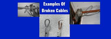 broken cable repair garage doors use cable for several purposes many people might refer to this as aircraft cable it is a pliable twisted cable of a