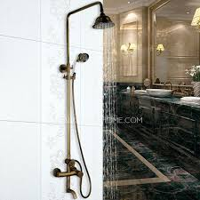 outdoor shower drainage drain head intended for heads decorations antique brass elevating outdoor shower head and