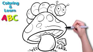Kreatif projeleriniz için 4k ve hd 7 abc coloring pages stok video klibi. Caterpillar On Mushroom Learn Abc By Coloring Video For Kids Youtube