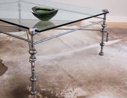 Iron And Glass Coffee Table Forged Iron Coffee Table In The Manner Of Giacometti Jean Marc Fray