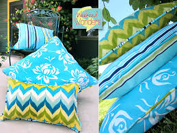 weekend wonders with fabric com outdoor piped pillow trio