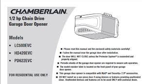 chamberlain 1 2 hp garage door openerChamberlain Garage Door Openers Honest Reviews  A Click Away Remotes