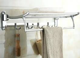 Hanging Towel Racks Bathroom The Rack Swings Up When Not In Use You