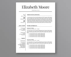 Resume Template Modern Resume Template Professional Resume Template 3 Page Resume Cv Template Instant Download Resume Ms Word