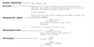 Screenplay Structure Chart Elements Of Screenplay Formatting Screencraft