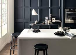corian countertop kitchen white black townhouse style