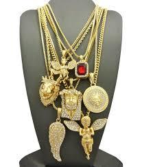 evil is present piece 14k gold ultra baller hip hop chains