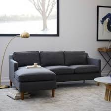 couches for small living rooms. A Hamilton Upholstered Chaise Sectional From West Elm Is One Of The Best Sofas For Small Couches Living Rooms