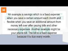 phone bill example is a cell phone bill a fixed expense youtube