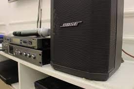 Dàn karaoke nhỏ gọn hiện đại với loa Bose S1 Pro - Linh Nhật Audio Âm Thanh  Hay