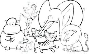 Realistic Sea Animal Coloring Pages And Wild Jungle Animals Of