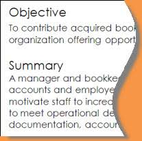 objective and summary example example of a summary for a resume