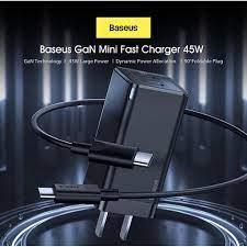 Bộ sạc nhanh Baseus GaN 45W PD kèm cáp C to C Nam Phụ Kiện