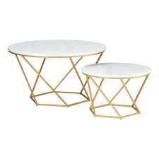 Add to compare compare now. Walker Edison Furniture Company 2 Piece 28 In Faux White Marble Gold Medium Round Wood Coffee Table Set With Nesting Tables Hdf28clrgmg The Home Depot Nesting Coffee Tables Round Wood Coffee Table Geometric