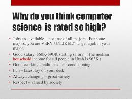 Computer Science Major Jobs Why Major In Computer Science Ppt Download