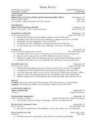 One page business resume