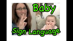 Cute Signing Baby Baby Sign Language