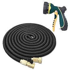 best flexible expandable garden hose 75 feet with solid brass fittings strongest triple core latex free spray nozzle 3 4 usa standard easy storage