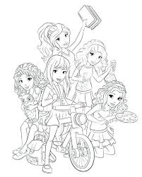 Coloring Pages Of Lego Friends Friends Printable Coloring Pages