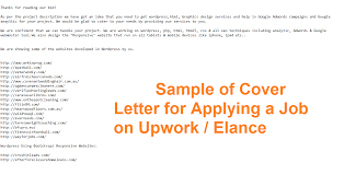 How To Write Cover Letter For Upwork Tomyumtumweb Com