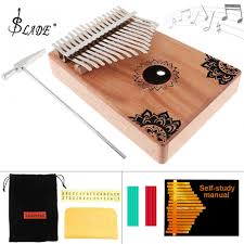 <b>17 Key Kalimba</b> Finger Piano Solid Mahogany <b>Thumb Piano</b> with ...
