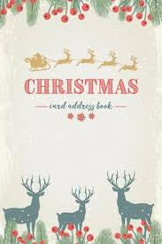 How To Address A Christmas Card Christmas Card Address Book Floral With Snow And Reindeers