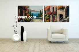 Paintings Living Room 2 Piece Colorful Canvas City Oil Paintings Wall Art