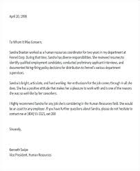 6 Sample Colleague Recommendation Letter Free Example Reference For ...